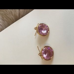 Pink and gold j crew earrings